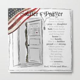 Soldier's Prayer for Daughters  Metal Print