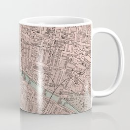Vintage Map of Glasgow Scotland (1901) Coffee Mug