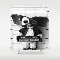 gizmo Shower Curtains featuring Gizmo lineup by Christophe Chiozzi