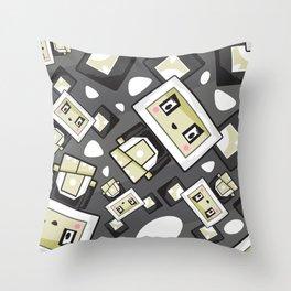 Cute Cartoon Blockimals Panda Pattern Throw Pillow