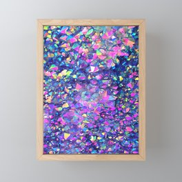 Bubble Crystals Framed Mini Art Print