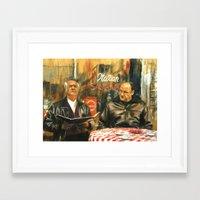sopranos Framed Art Prints featuring The Sopranos by Miquel Cazanya