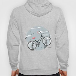 Bycicle illustration. Cartoon style. Hoody