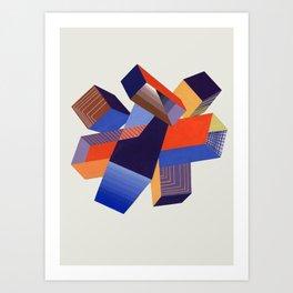 Geometric Painting by A. Mack Art Print