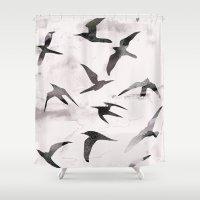 flight Shower Curtains featuring Flight by Georgiana Paraschiv