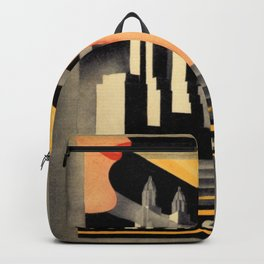 Waldorf Astoria Hotel NYC The Starlight Roof, Champagne Wine Card Vintage Poster Backpack