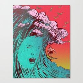 SURFBORTING Canvas Print