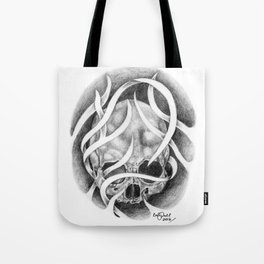 Swirly Skull Tote Bag