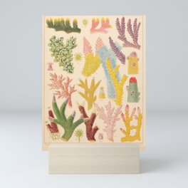 """Corals from """"The Great Barrier Reef of Australia"""" by William Saville Kent, 1893 Mini Art Print"""