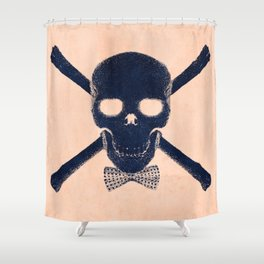 """""""Skull with Class"""" Shower Curtain"""