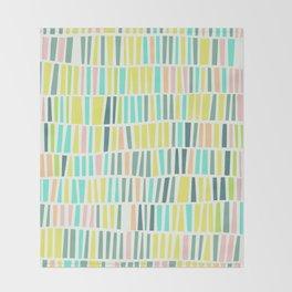 Terrazzo pastel overlay Throw Blanket