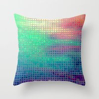 pixel art Throw Pillows featuring piXel by 2sweet4words Designs