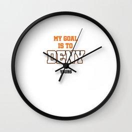 My Goal Lacrosse Wall Clock