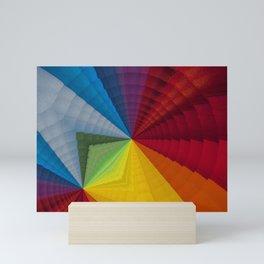 Rainbow colors - Geometric design Mini Art Print