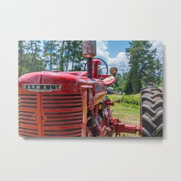 Front of Farmall Tractor Metal Print