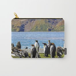 King Penguins and Fur Seals Carry-All Pouch