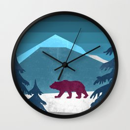 Bear pride walk Wall Clock