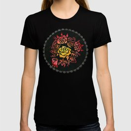 Hand Painted Watercolor Lacey Roses T-shirt
