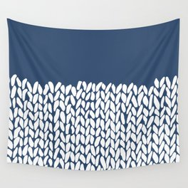 Half Knit Navy Wall Tapestry