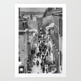 Streets of Quebec Art Print