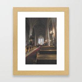 St Michael Roman Catholic Church Cluj Napoca Romania Koloszvar Framed Art Print