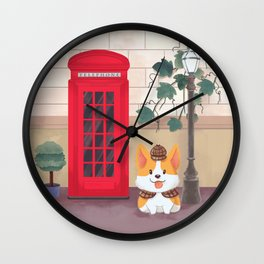 Britain London Corgi Wall Clock