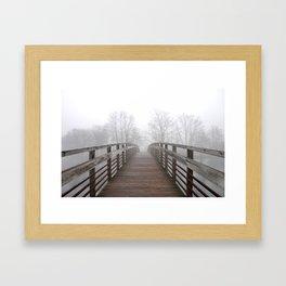 Fog on the Huron Framed Art Print