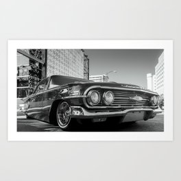 Slow and Low 60 B&W Art Print