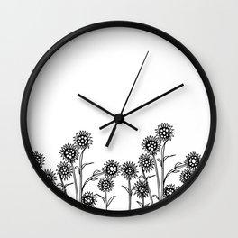 Field of Sunflowers Wall Clock