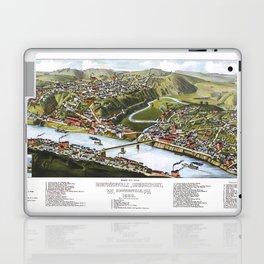 BOSTON MASSACHUSETTS city old map Father Day art print poster Laptop & iPad Skin