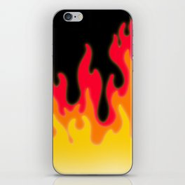 Flames of Red, Orange, and Yellow! iPhone Skin