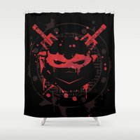 ninja turtle Shower Curtains featuring Raphael Turtle by Sitchko Igor