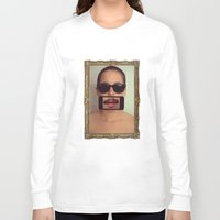 mustache Long Sleeve T-shirts featuring mustache~ by Michal