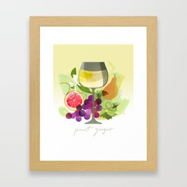 Wine Notes – Pinot Grigio Framed Art Print