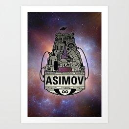 Forever Asimov  Art Print
