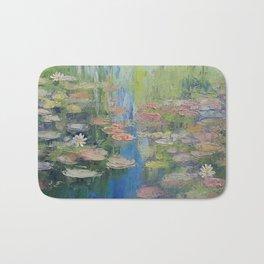Water Lily Pond Bath Mat