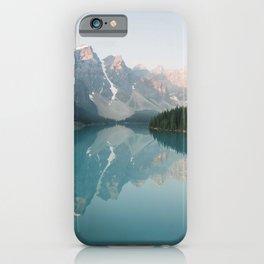 Pastel Sunrise over Moraine Lake iPhone Case