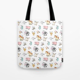 Farm Animals - Chinese/Pinyin Tote Bag