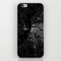 memphis iPhone & iPod Skins featuring Memphis map by Line Line Lines