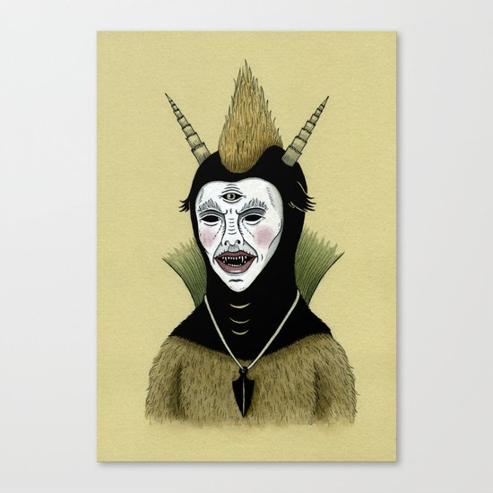Creature with Black Amulet  Canvas Print