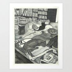Edward Gorey Portrait Art Print