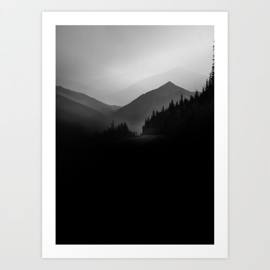 Dusky Mountains Art Print