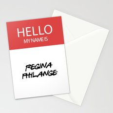 HELLO MY NAME IS... REGINA PHILANGE Stationery Cards