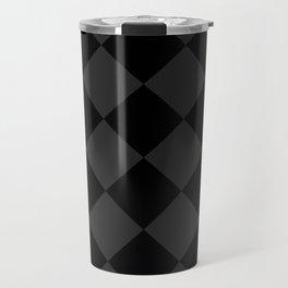 Black and Grey Diamonds Travel Mug