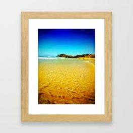 sandy days Framed Art Print