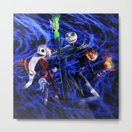 Nightmare Before Christmas Metal Print