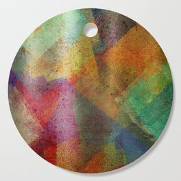 Colorful paint texture Cutting Board