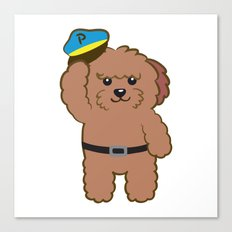 Poodle Police Canvas Print