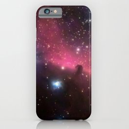 Horsehead and flaming tree nebula, in the constellation of Orion, Milky Way iPhone Case