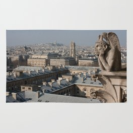 Gargoyle staring at Paris Rug
